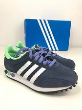 BNIB WOMENS ADIDAS LA TRAINER W SHOES NAVY WHITE LADIES TRAINERS UK 3.5