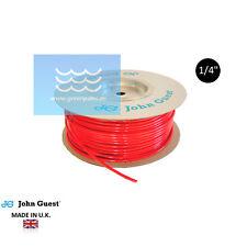 """GPC Schlauch rot 1/4"""" von John Guest für Umkehrosmose, Wasserfiler made in U.K."""