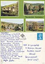 1990's MULTI VIEWS OF SWALEDALE YORKSHIRE COLOUR POSTCARD