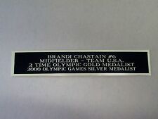 Brandi Chastain Nameplate For A Soccer Ball Case Or Signed Photo 1.25 X 6