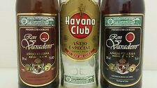 Ron Varadero / Havana Club; 3 Cuban Rum Bottles, Ready For Display!
