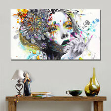 Beauty Canvas Print Urban Princess Modern Graffiti Street Art Decoration 125cm