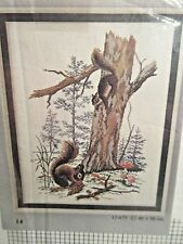 Eva Rosenstand WOOD FOREST SQUIRRELS SKOVEGERN Counted Cross Stitch KIT 12-675