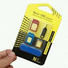 5 IN 1 PACK NANO to MICRO & STANDARD SIM CARD ADAPTER Universal Mobile Phones FS
