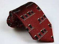 PATRICK FRANCIS Ireland Deep Red Thick Woven Silk ENGLISH PINT Beers Stout Tie