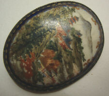 Antique Meiji period Japanese satsuma brooch