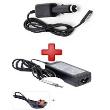 UK Wall Charger Adapter Power Supply 12V  With Car Charger For Microsoft Surface
