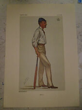 VANITY FAIR PRINT CRICKET LORD HARRIS KENT