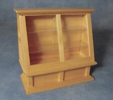 DOLLSHOUSE 1/12th SCALE SHOP DISPLAY CABINET IN PINE
