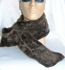 NEW! GREY Sheepskin, WARM & thick scarf Unisex Real Leather Shearling Lambskin