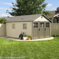 HUGE! Outdoor Garden Storage Shed 11 x 18 Ft Door Window Backyard Storage Unit