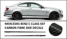 AMG Edition C63 507 Carbon Fibre Side Decals Stickers - Mercedes Benz C Class