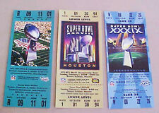 NEW ENGLAND PATRIOTS SET OF 3 SUPER BOWL REPLICA TICKETS GREAT FOR FRAMING