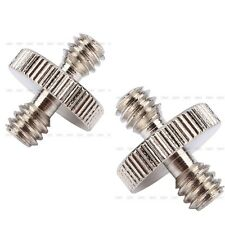 2Pcs 1/4'' to 1/4'' Inch Camera Screw Tripod Male Threaded Metal Screw Adapter