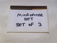 AUSTIN MORRIS 1/4 TON VAN & PICK UP MICROFICHE SLIDE SET OF 3 (D174)