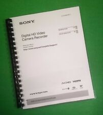 COLOR PRINTED Sony Digital HD Video HDR-PJ200 Manual User Guide 155 Pages