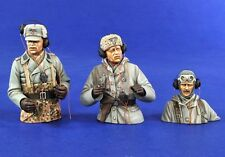 Verlinden 120mm 1/16 German Tank Crew in Winter Dress WWII (3 Half-figures) 2833