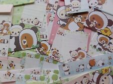Rilakkuma PANDA Stationery Letter Set Envelope Memo paper San-X Kawaii Cute sale