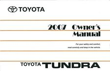 2007 Toyota Tundra Owners Manual User Guide