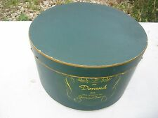 Vintage ?? Dorand Famous Barr Green Oval Round ?? Hat Empty Box good for decor