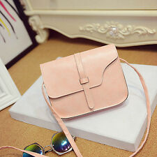 Fashion Women Girl Shoulder Bag Faux Leather Satchel Crossbody Tote Handbag Pink
