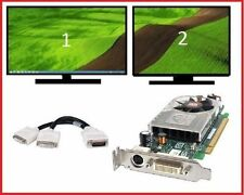 Dell Optiplex 745 755 760 SFF Low-Profile Dual DVI Monitors Video Card PCI-e x16