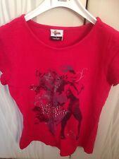 Hannah montana filles t-shirt rouge 6-7 ans avec papillon de george