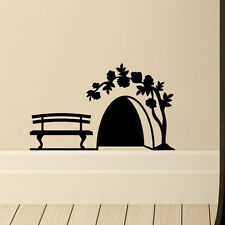 Mouse Hole With rose Wall Vinyl Decal Home DIE CUT DECOR STICKER Decoration