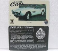 "UNITEL PHONECARD-LIMITED EDITION-CLASSIC CARS ""BMW 507""-valore £ 5"