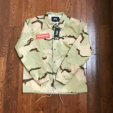 New Stussy Spring Coach Jacket Desert Camo World Tour SS 2017 SS17 Size L