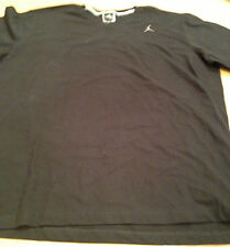 "AIR JORDAN- Embroidered ""Jumpman"" Black T-Shirt-  New with Tags- Size Mens  XXL"