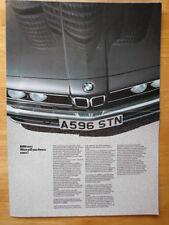 BMW Range 1983 1984 UK Market brochure broadsheet - 3 5 6 & 7 Series & Baur