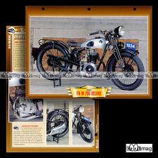 #126.11 Fiche Moto FN FABRIQUE NATIONALE M 70 D DELUXE (M70 70D) 1934 Motorcycle