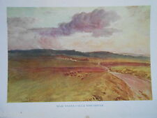 Dorset 1925 antiquario stampa vicino a Maiden Castle, Dorchester by Walter Tyndale