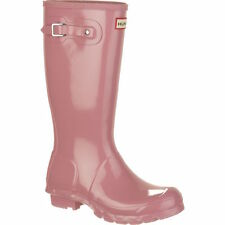 NEW Hunter Sz 5.5 6 Womens Fondant Pink Gloss Original Rain Boots EU 37 READ!!