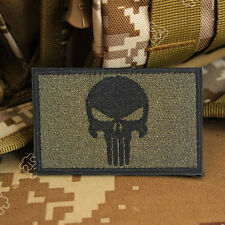 PUNISHER SKULL USA AMERICAN FLAG ARMY MORALE TACTICAL OPS PATCH-Badge