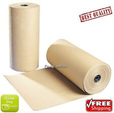 20m 20 x 500mm 500 STRONG BROWN KRAFT WRAPPING PAPER 90gsm roll heavy duty