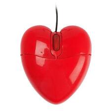 Mouse ottico CUORE ROSSO luce interna Notebook Computer PC san valentino USB