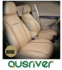 Custom MadeCar Seat Cover Set Front Rear Beige for  BMW5 A4 Tiguan Camry GLK300