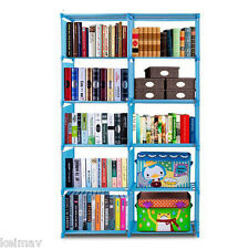 Quality Home Furniture Adjustable Bookcase Storage Bookshelf with 10Book Shelves