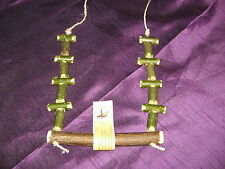 PARROT/COCKATIEL SWING/PERCH TREAT MADE FROM NORTHUMBRIAN WILLOW & HAZEL