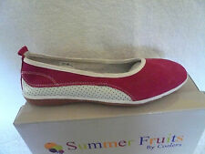 LADIES SANDALS PUMPS DECK REAL LEATHER AND SUEDE PINK/WHITE SIZE 8UK BY COOLERS