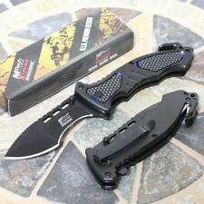 MTech USA Xtreme Ballistic Folding Pocket Knife Black Tactical Military Rescue