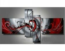 YH001 4PCS Modern Abstract Canvas decorative Oil Painting handdrawn No framework