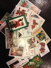 25 OLD Vintage All Different Christmas stamps, Mint Never Hinged