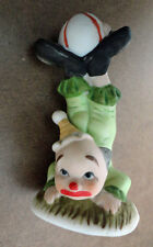 Enesco 1981 Handstand Acrobat Clown Green Suit Ball On Feet Free USA Shipping