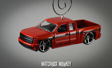 Chevy Silverado 1500 Pickup Truck Custom Christmas Ornament 1/64 Chevrolet