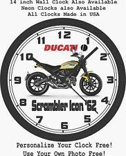 2016 DUCATI SCRAMBLER ICON '62 WALL CLOCK-FREE USA SHIP