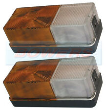 PAIR FORD TRACTOR FRONT SIDE COMBINATION LIGHT LAMP 4600 NEW HOLLAND INDICATOR