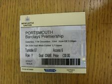 11/12/2004 Ticket: Newcastle United v Portsmouth  . Thanks for viewing this item